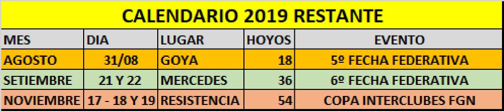 CALENDARIO 2019 CORREGIDO