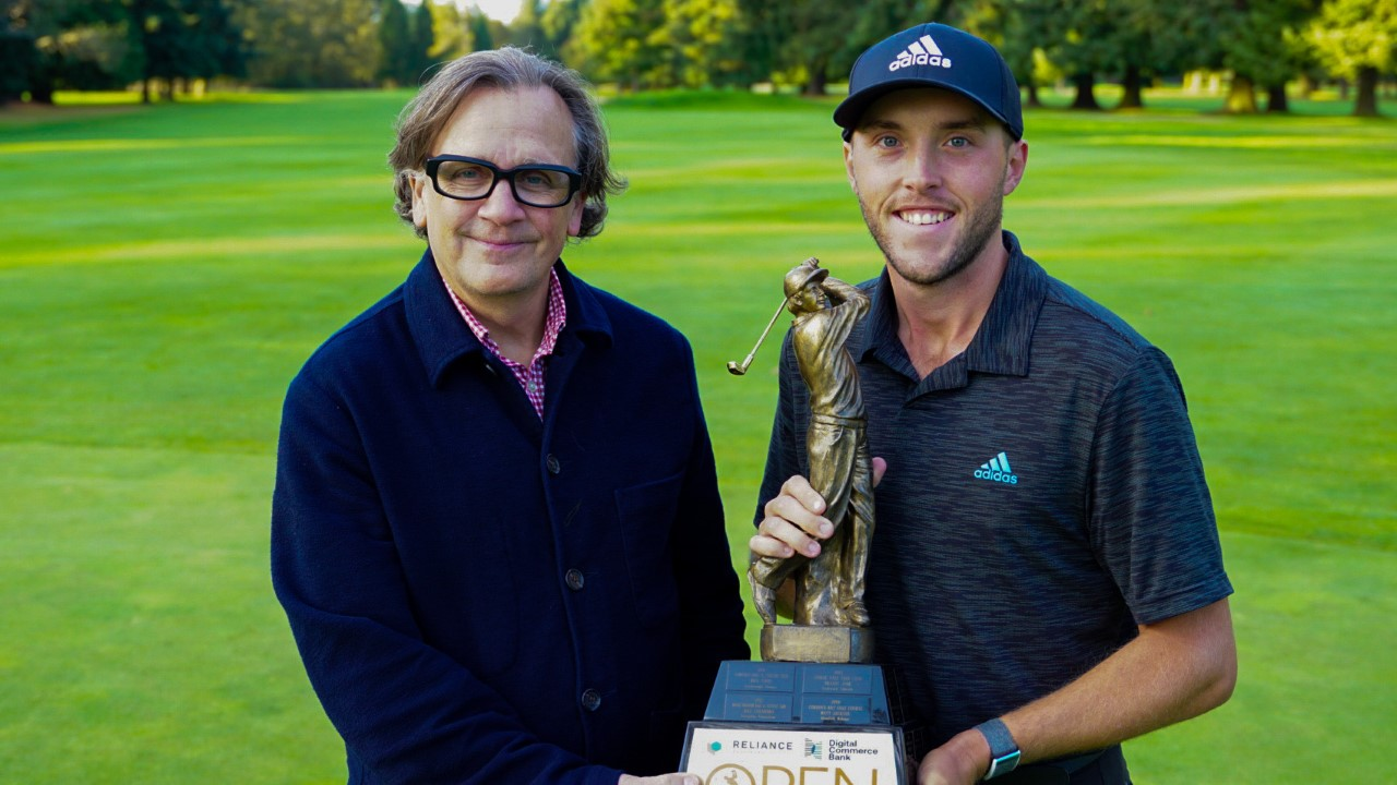 Bursey victorious at the Reliance Properties DCBank Open in Victoria
